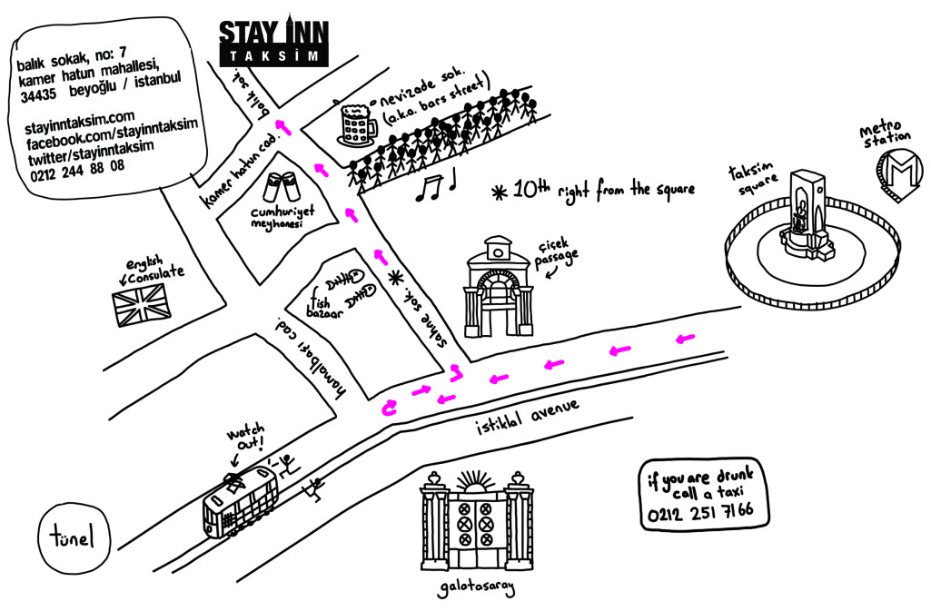 Directions to reach the hostel.