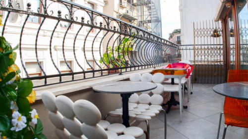 Our stylish hostel offers a terrace.