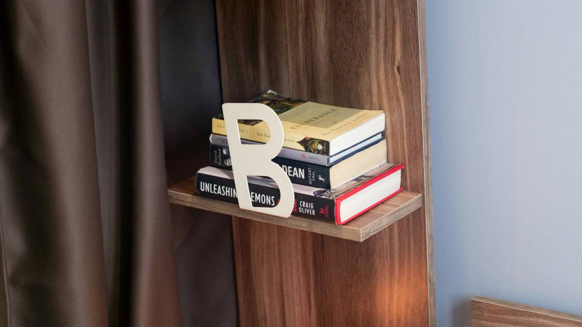 The guests can find bookstand in the double rooms.